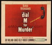 7m176 DIAL M FOR MURDER heavily trimmed WC '54 Alfred Hitchcock classic murder mystery!