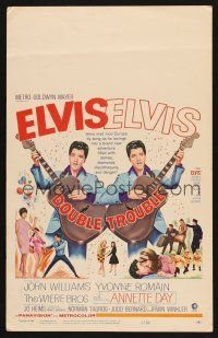 7m177 DOUBLE TROUBLE WC '67 cool mirror image of rockin' Elvis Presley playing guitar!