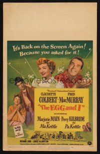7m180 EGG & I WC R54 Claudette Colbert, MacMurray, first Ma & Pa Kettle, by Betty MacDonald!