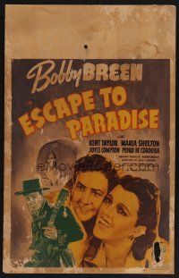 7m181 ESCAPE TO PARADISE WC '39 Bobby Breen, Kent Taylor & Marla Shelton in South America!