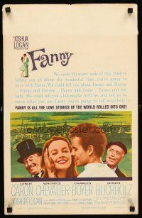 7m185 FANNY WC '61 Leslie Caron, Charles Boyer, Maurice Chevalier, Horst Buchholz
