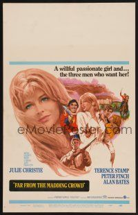7m186 FAR FROM THE MADDING CROWD WC '68 Julie Christie, Terence Stamp, Peter Finch, Schlesinger