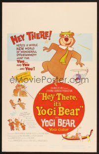 7m212 HEY THERE IT'S YOGI BEAR WC '64 Hanna-Barbera, Yogi's first full-length feature!