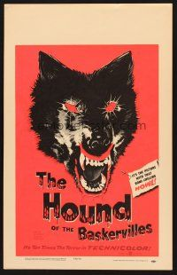7m217 HOUND OF THE BASKERVILLES WC '59 Terence Fisher, Hammer, great blood-dripping dog artwork!