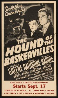 7m216 HOUND OF THE BASKERVILLES WC R70s Sherlock Holmes, with artwork from the original poster!