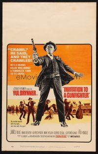 7m223 INVITATION TO A GUNFIGHTER WC '64 vicious killer Yul Brynner brings a town to its knees!