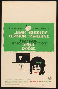 7m224 IRMA LA DOUCE WC '63 Billy Wilder, great art of Shirley MacLaine & Jack Lemmon!