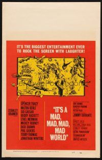 7m225 IT'S A MAD, MAD, MAD, MAD WORLD WC '64 great different montage art NOT by Jack Davis!