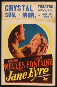 7m227 JANE EYRE WC '44 art of Orson Welles as Edward Rochester holding sad Joan Fontaine as Jane!