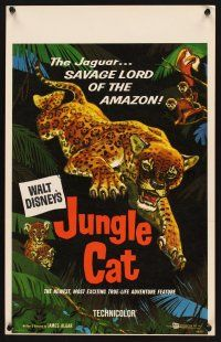 7m232 JUNGLE CAT WC '60 Disney, great artwork of jaguar, savage lord of the Amazon!
