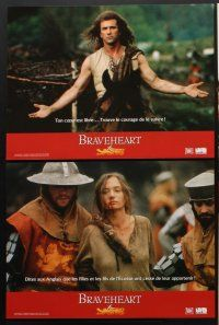 7m059 BRAVEHEART 10 French LCs '95 Mel Gibson as William Wallace, Sophie Marceau!