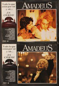 7m531 AMADEUS 7 Mexican LCs '84 Milos Foreman, Tom Hulce in Mozart biography!