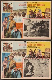 7m561 BIG JAKE 4 Mexican LCs '71 John Wayne, Richard Boone, cool border montage!