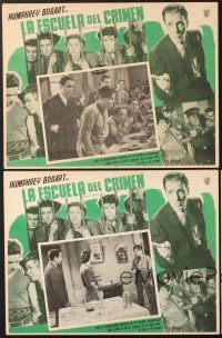 7m579 CRIME SCHOOL 3 Mexican LCs R50s great images of Humphrey Bogart & the Dead End Kids!