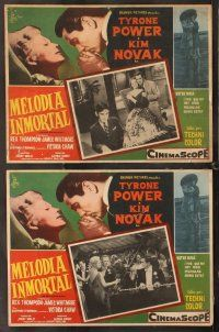 7m534 EDDY DUCHIN STORY 7 Mexican LCs '56 Tyrone Power & Kim Novak, a love story you will remember!