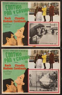 7m510 FINE PAIR 8 Mexican LCs '69 Rock Hudson & sexy Claudia Cardinale!
