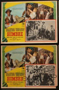 7m553 HOMBRE 5 Mexican LCs '66 Paul Newman, Fredric March, directed by Martin Ritt, it means man!