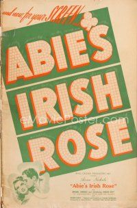 7m343 ABIE'S IRISH ROSE pressbook '46 Joanne Dru, Anne Nichols, most riotous, romantic hit!