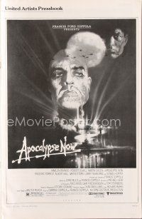 7m348 APOCALYPSE NOW pressbook '79 Francis Ford Coppola, classic Bob Peak art of Brando & Sheen!