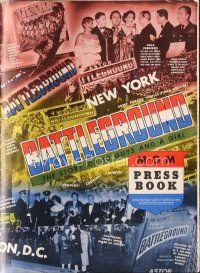 7m351 BATTLEGROUND pressbook '49 directed by William Wellman, WWII soldier Van Johnson!