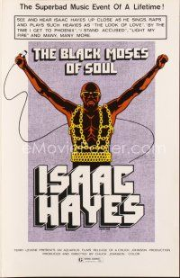 7m355 BLACK MOSES OF SOUL pressbook '73 Isaac Hayes, the superbad music event of a lifetime!