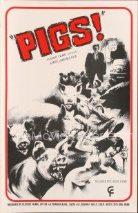 7m368 DADDY'S DEADLY DARLING pb '72 art of wacky killer PIGS, no one could control their hunger!