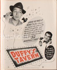 7m376 DUFFY'S TAVERN pressbook '45 art of Paramount's biggest stars including Lake, Ladd & Crosby!