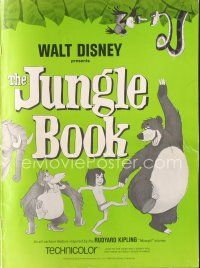 7m412 JUNGLE BOOK pressbook '67 Walt Disney cartoon classic!
