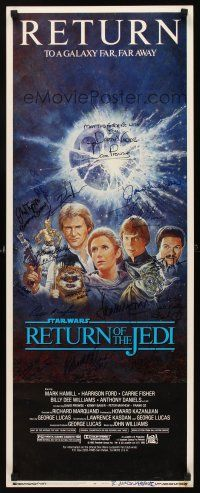 7t066 RETURN OF THE JEDI signed insert R85 by EIGHTEEN cast & crew members, Tom Jung art!