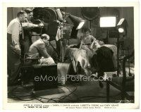 7w062 BORN TO BE BAD candid 8x10 still '34 director Lowell Sherman with Loretta Young on set!
