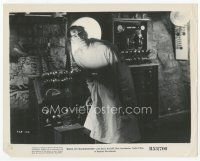 7w012 BRIDE OF FRANKENSTEIN 8x10 still R53 close up of Colin Clive operating his machine!