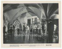 7w014 BRIDE OF FRANKENSTEIN 8x10 still R53 far shot of guests at room in really cool house!