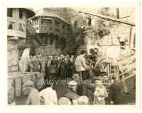7w070 CRUSADES candid 8x10 still '35 director Cecil B DeMille filming crowd scene!