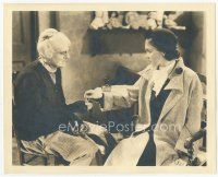 7w016 DEVIL DOLL deluxe 8x10 still '36 Maureen O'Sullivan gives necklace to Lionel Barrymore in drag