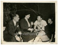 7w072 DRAGON SEED candid 8x10 still '44 director Conway, Katherine Hepburn, Bey & Pearl S. Buck!