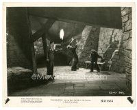 7w001 FRANKENSTEIN 8x10 still R51 Colin Clive watches Frye whip Boris Karloff as the monster!