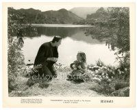 7w002 FRANKENSTEIN 8x10 still R51 classic image of Boris Karloff as the monster with little girl!