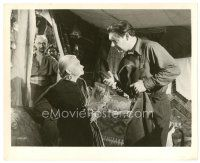 7w035 FRANKENSTEIN MEETS THE WOLF MAN 8x10 still '43 baffled Lon Chaney argues with Ouspenskaya!