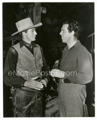 7w073 GARY COOPER/FRED MACMURRAY candid 7.5x9.5 still '40 from different movies by Richardson!
