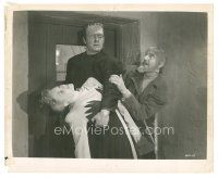 7w028 GHOST OF FRANKENSTEIN 8x10 still R48 Bela Lugosi grabs Lon Chaney who is holding Evelyn Ankers