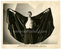 7w050 HOUSE OF DRACULA 8x10 still '45 best image of vampire John Carradine with arms outstretched!