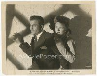 7w047 JUNGLE WOMAN 8x10 still '44 close up of scared Douglas Dumbrille & Evelyn Ankers!
