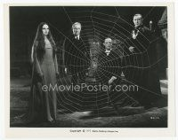 7w009 MARK OF THE VAMPIRE 8x10 still R72 best image of Bela Lugosi & 3 others by giant spider web!