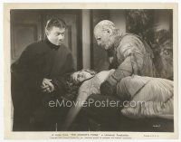 7w027 MUMMY'S TOMB 8x10 still '42 Turhan Bey watches monster Lon Chaney Jr. grab sexy Elyse Knox!
