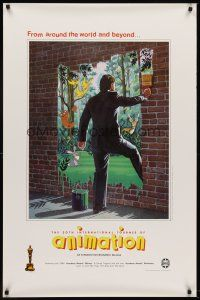 8e005 20TH INTERNATIONAL TOURNEE OF ANIMATION 1sh '87 cool Johanna Girard fantasy art!