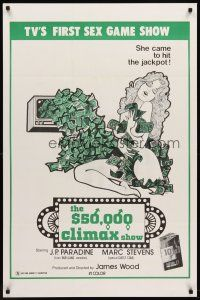 8e009 $50,000 CLIMAX SHOW 1sh '75 TV's 1st sex gameshow, she came to hit the jackpot!