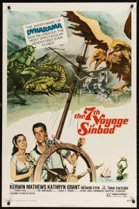 8e007 7th VOYAGE OF SINBAD style B 1sh R75 Kerwin Mathews, Ray Harryhausen fantasy classic!