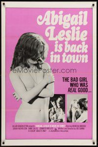 8e012 ABIGAIL LESLIE IS BACK IN TOWN 1sh '75 Joe Sarno, sexy topless Jennifer Jordan!
