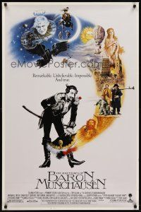 8e015 ADVENTURES OF BARON MUNCHAUSEN int'l 1sh '89 directed by Terry Gilliam, Casaro art!