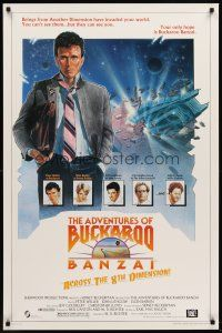 8e016 ADVENTURES OF BUCKAROO BANZAI 1sh '84 Peter Weller science fiction thriller!